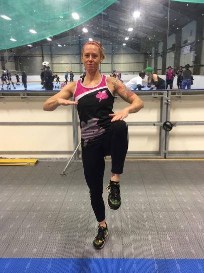 walking high knees / on spot sprints (10 sec on / 10 sec off)